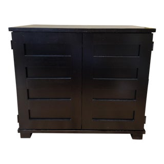 Crate & Barrel Black Incognito Desk For Sale