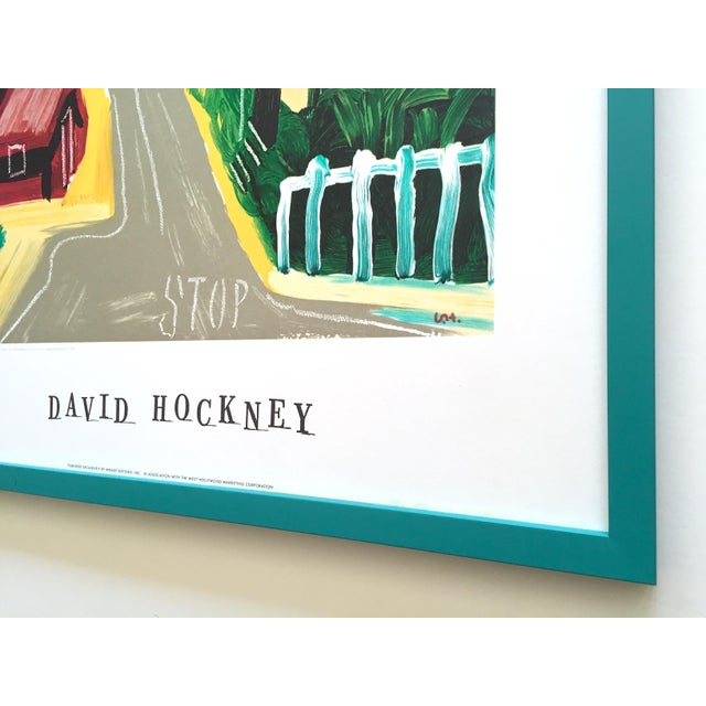 "David Hockney Rare Vintage 1989 Lithograph Print Framed Collector's Pop Art Poster "" Hancock St. West Hollywood 1 "" For Sale - Image 12 of 13"