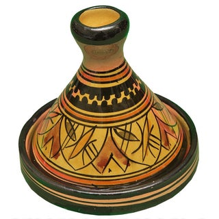 Handmade Moroccan Ceramic Bowl With Lid For Sale