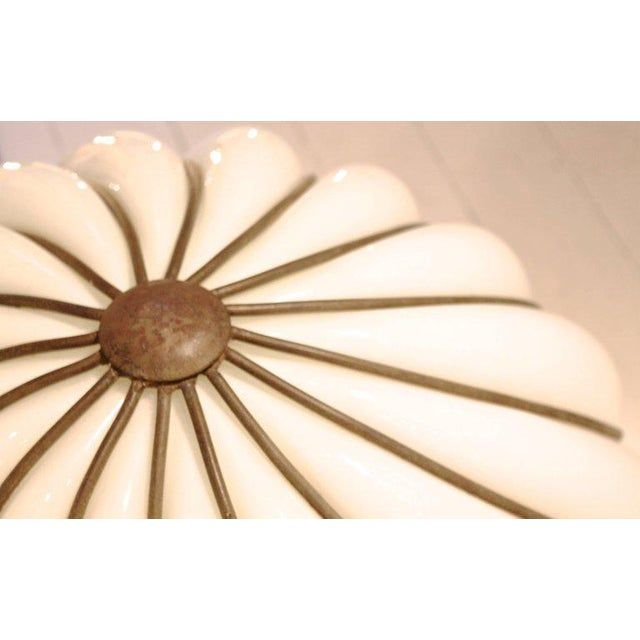 Art Deco Glamourous 1970s Spheric Murano Glass Table Lamp For Sale - Image 3 of 7