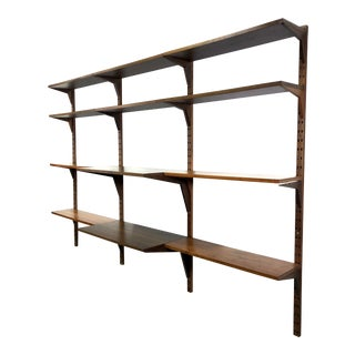 Poul Cadovious 3-Bay Royal Teak Wall Shelving Unit For Sale