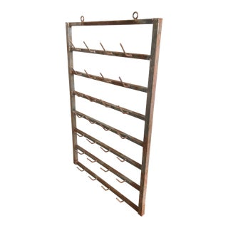 Antique French Bottle Drying Rack For Sale
