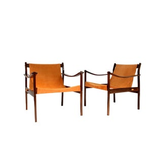 1960s Vintage Jorge Zalszupin Rosewood Lounge Chairs- A Pair For Sale