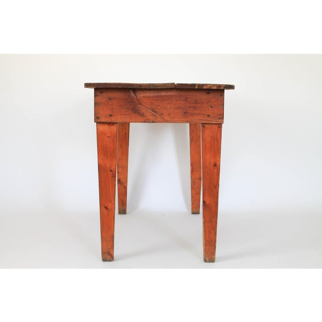 Rustic Pine Farm Table or Writing Desk | Chairish