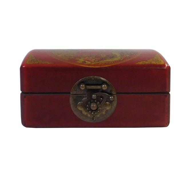 Chinese Red Rectanuglar Box - Image 3 of 5