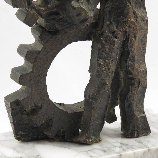 Green Mid-Century Modernist Brutalist Bronze Sculpture For Sale - Image 8 of 11