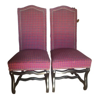 Louis XIII Style Os De Mouton Dining Chairs - a Pair