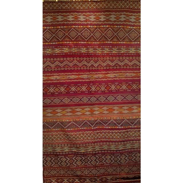 "Vintage Moroccan Kilim 5' 9"" X 10' For Sale - Image 10 of 11"