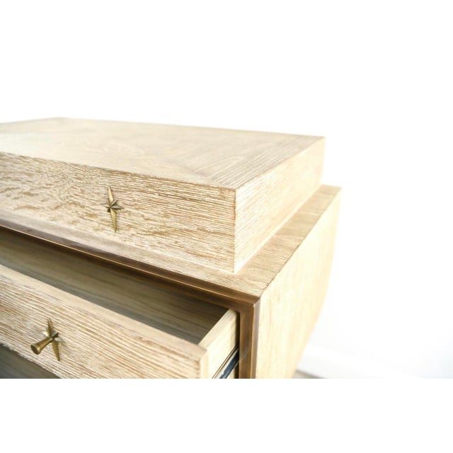 Vintage Cerused Oak Chest of Drawers For Sale In New York - Image 6 of 11