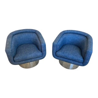 Mid-Century Modern Leon Rosen for Pace Chairs Memory Swivel - a Pair For Sale