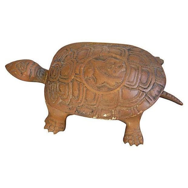 Mid-Century Brass Turtle Keepsake Trinket Box - Image 5 of 6