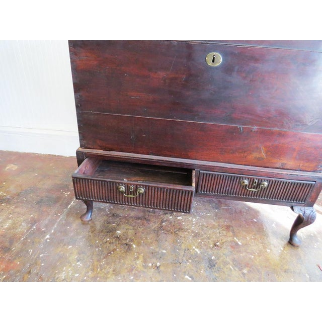 """Antique Mahogany Trunk 