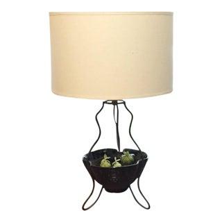 Vintage Boho Chic Planter Light Fixture For Sale