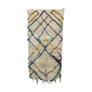 1980s Vintage Azilal Moroccan Rug - 3′1″ × 6′4″ For Sale