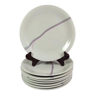 Vintage Rorstrand Rainbow Bertil Vallien Bread & Butter Plates- Set of 8 For Sale