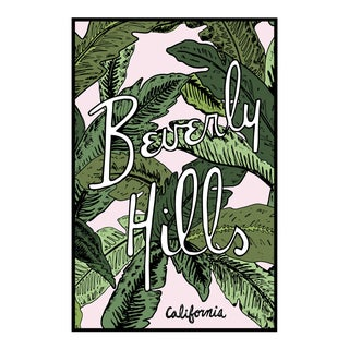 """Beverly Hills Palm Illustration"" Original Framed Illustration For Sale"