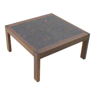 Dieter Waeckerlin Mosaik Coffee Table in Wenge, Switzerland, 1960s For Sale