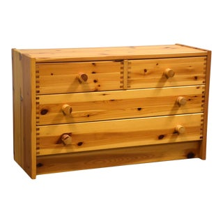 Idé Møbler Solid Pine Danish Chest Dresser For Sale