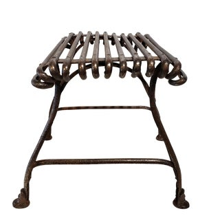 Metal Welded Foot Stool For Sale