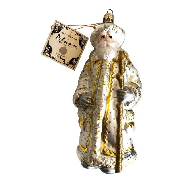 Polonaise Kurt Adler White Santa Ornament For Sale