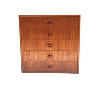 Mid Century Modern Danish Teak Modular Cabinet 5 Drawer Chest