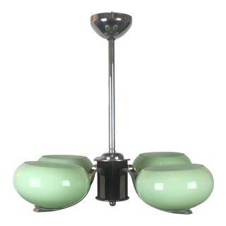 French Art Deco 4-Arm Chandelier For Sale