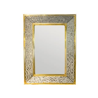 Robert Goossens, Pyrite Mirror Made of Pyrite and Brass, 1972 For Sale