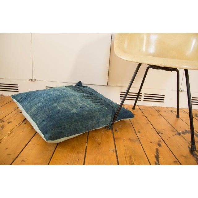 African Indigo Floor Pillow For Sale - Image 4 of 4