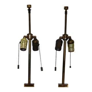 1950s Mid Century Modern Hansen Lighting Robsjohn Gibbings Marble Lamps - a Pair For Sale