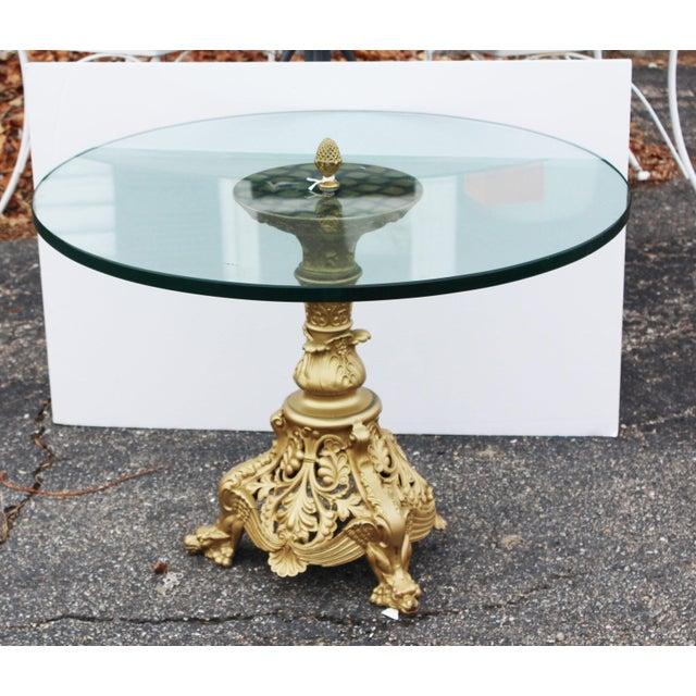 Fiberglass Gilt Art Nouveau Table For Sale - Image 7 of 8