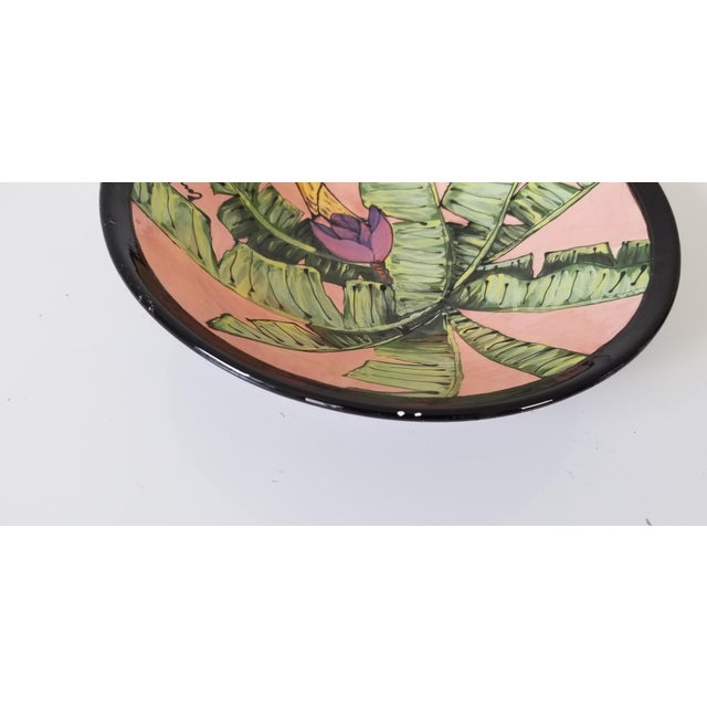 80's Vintage Tropical Decorative Ceramic Bowl , Signed . For Sale In Miami - Image 6 of 8