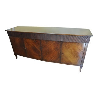 William Switzer Mahogany Bow Front Buffet