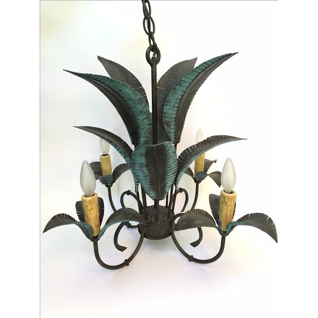 Beautiful 4-light palm tree chandelier by Arte De Mexico. All metal construction. Excellent condition. As always, all...
