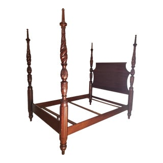 Vintage Walnut Queen Size Bed