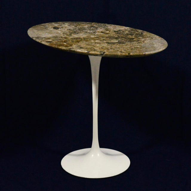 Eero Saarinen Tulip Side Table With Marble Top For Sale In Chicago - Image 6 of 12