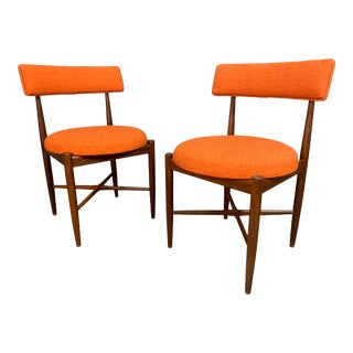 Pair of Vintage British Mid Century Modern Teak Accent Chairs by G Plan For Sale