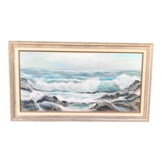 Vintage Original Seascape Painting For Sale