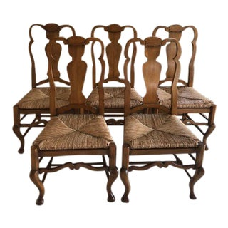 Ralph Lauren Aran Isle Side Chairs Waxed Pine Dining Chairs - Set of 10