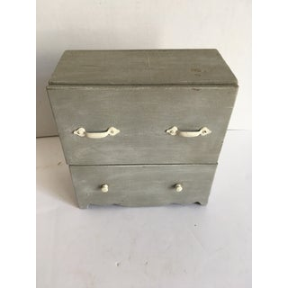 Miniature Gray Painted Blanket Chest Preview