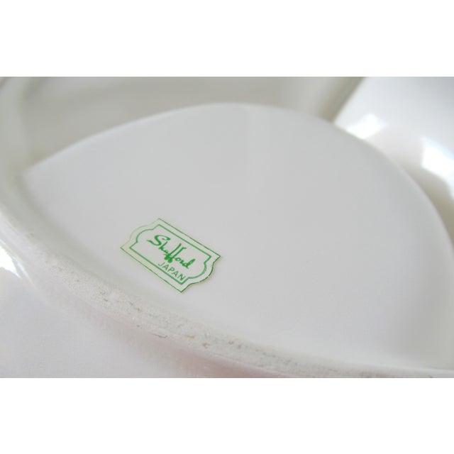 Vintage Mid-Century Trompe l'Oeil Porcelain Ceramic Shrimp Cocktail Server Platter For Sale - Image 11 of 13
