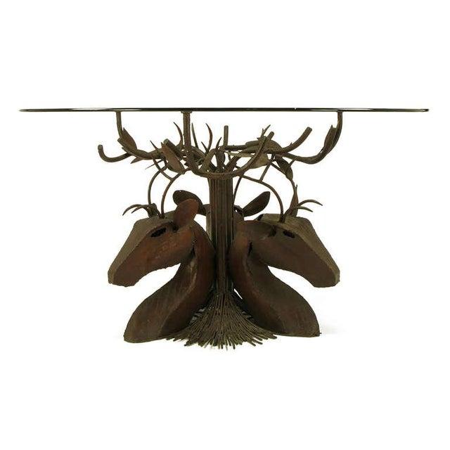 Studio Steel Sculpture Deer Trio Dining Table - Image 4 of 4