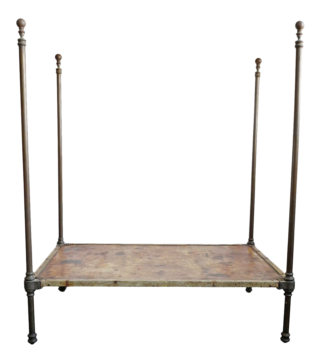 Antique Brass 4 Poster Twin Bed Chairish