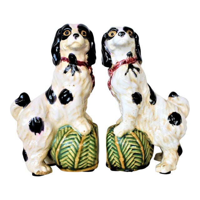 Vintage King Charles Spaniel Bookends - a Pair For Sale