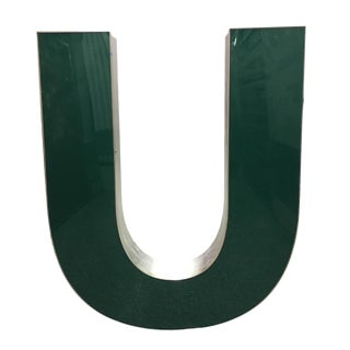 "Capital ""U"" Channel Letter For Sale"