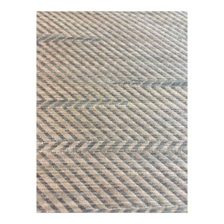 "Blue ""Arden Chevron"" Travers Fabric"