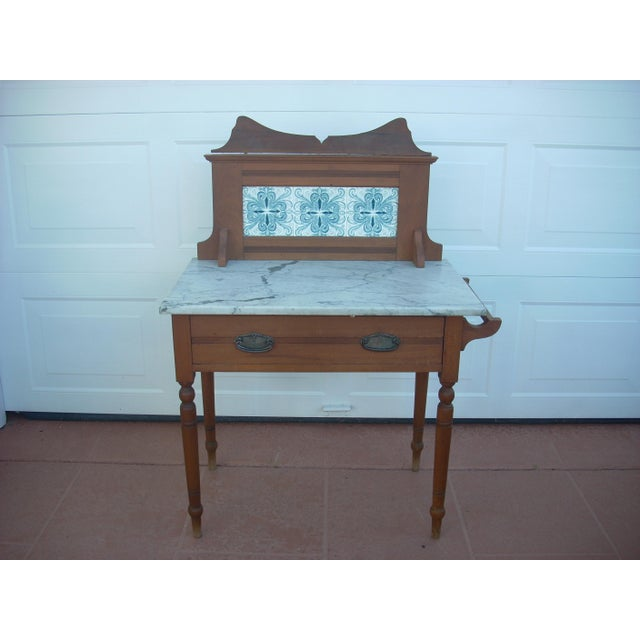 Victorian Marble Top Wash Stand - Image 2 of 8