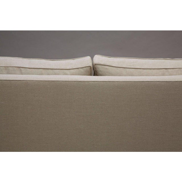 """Elton"" by Lee Stanton Upholstered Sofa in Belgium Linen or Custom Fabric For Sale - Image 9 of 11"
