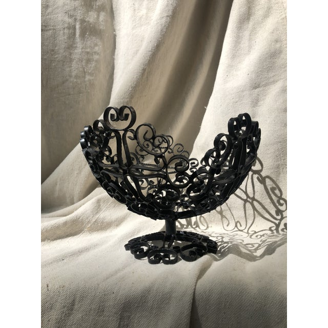 Fun filigree wrought iron bowl. Perfect as a fruit bowl! Made in Spain.