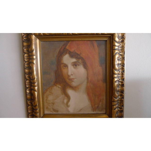 1920s Antique Portrait of a Woman Oil Painting For Sale - Image 4 of 7