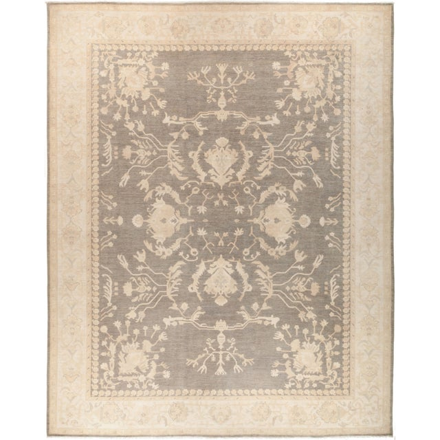 "Oushak Hand Knotted Area Rug - 11' 10"" X 14' 7"" - Image 4 of 4"